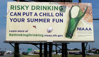 Photo of Risky Drinking billboard